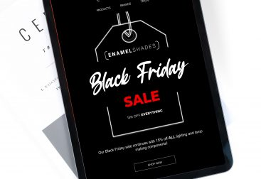 Enamel Shades Black Friday email campaign