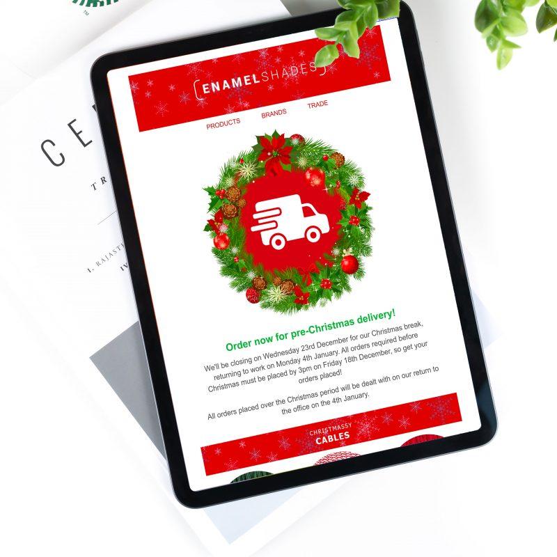 Enamel Shades Christmas Email