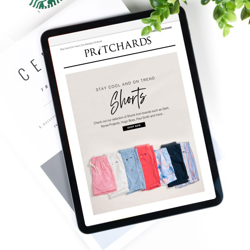 Pritchards Shorts Email Campaign