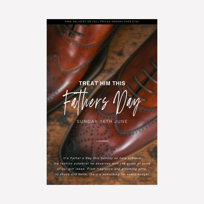 Pritchards Father's Day Poster