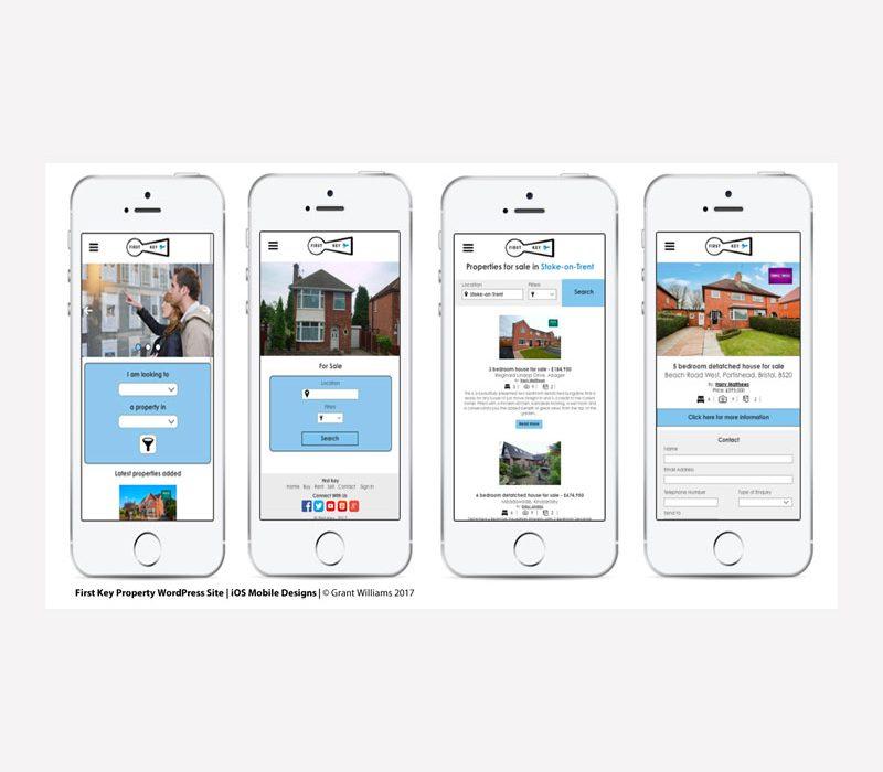 First Key Website Mobile Mock-up