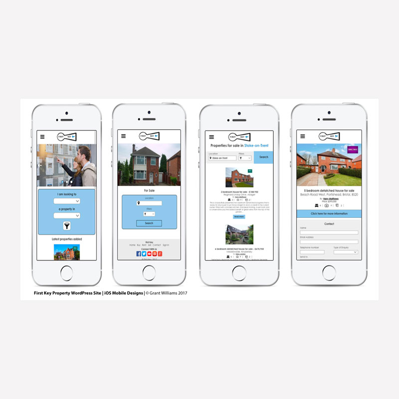 First Key Website Mobile Mock-up