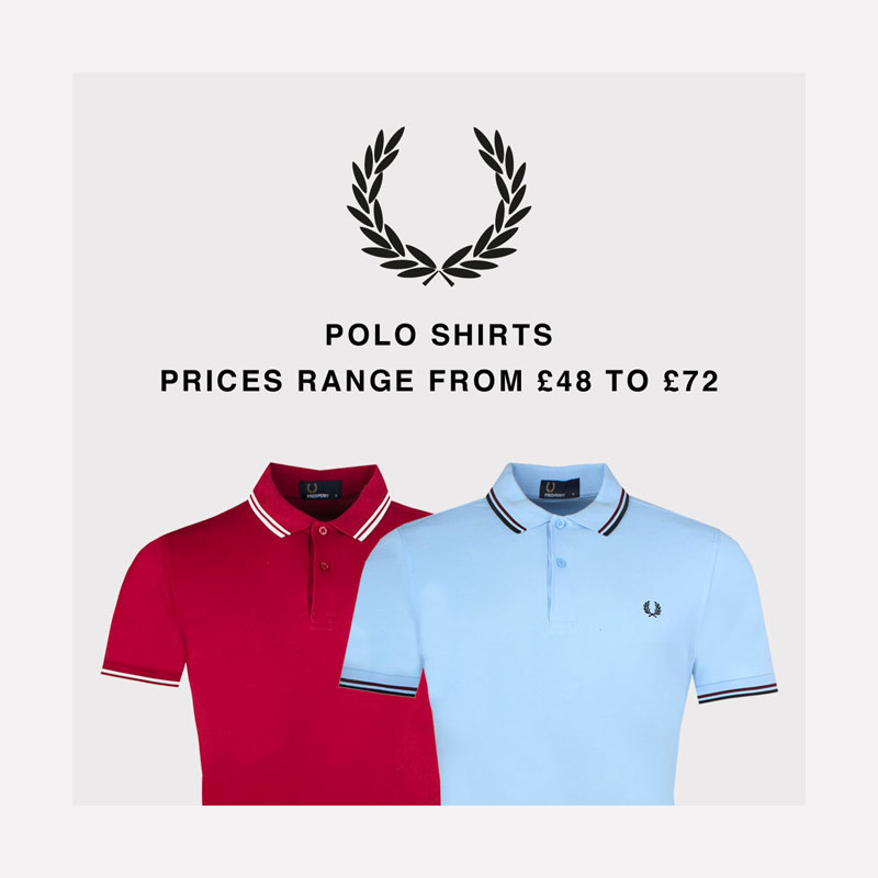 Pritchards Fred Perry Polo Shirts Graphic