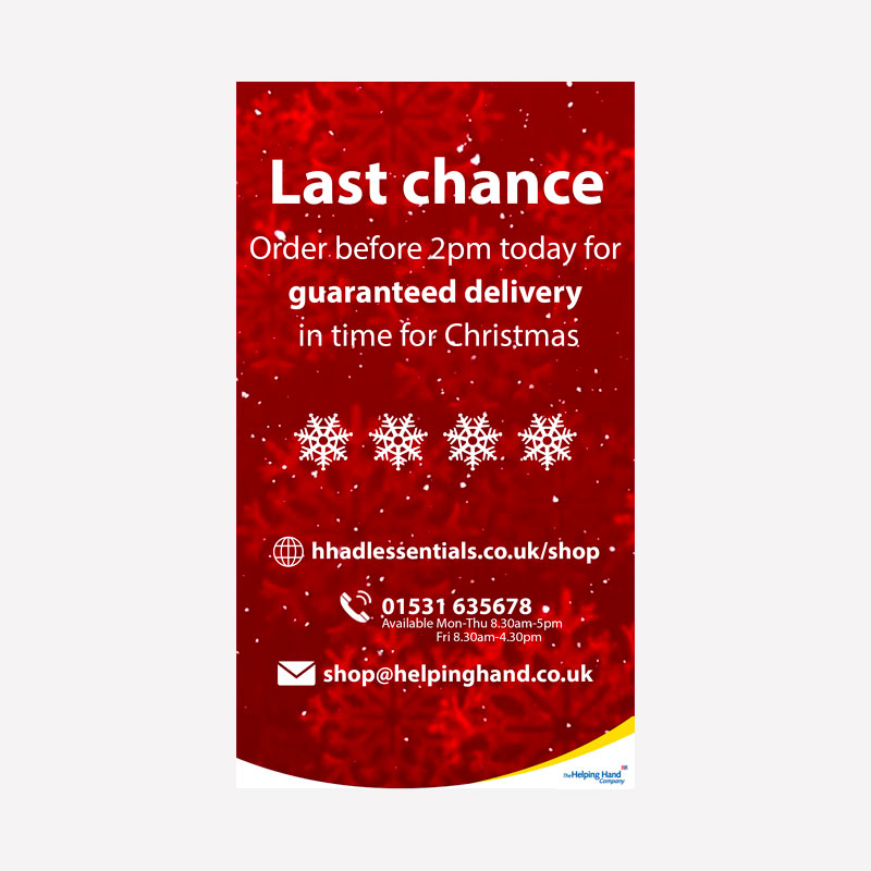 Last Chance Delivery Facebook Story Graphic