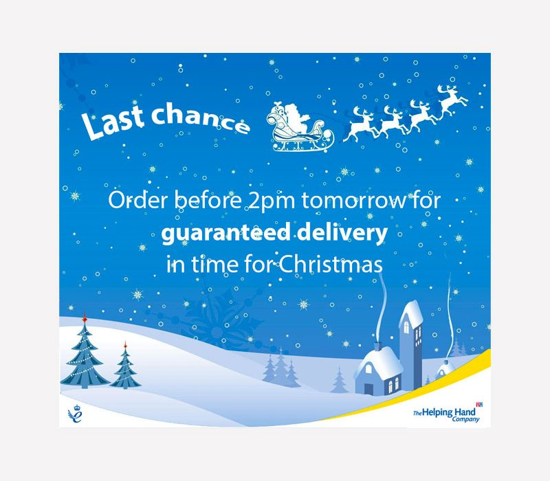 Christmas Delivery Last Chance Delivery Graphic