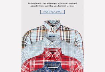 Pritchards Check Shirts Email Graphic