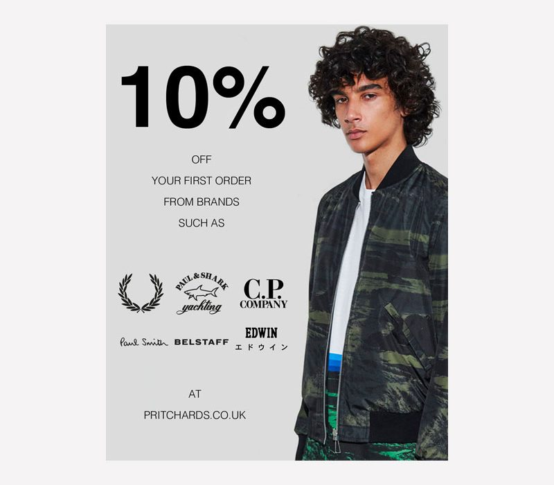 Pritchards 10% off Your First Order Graphic
