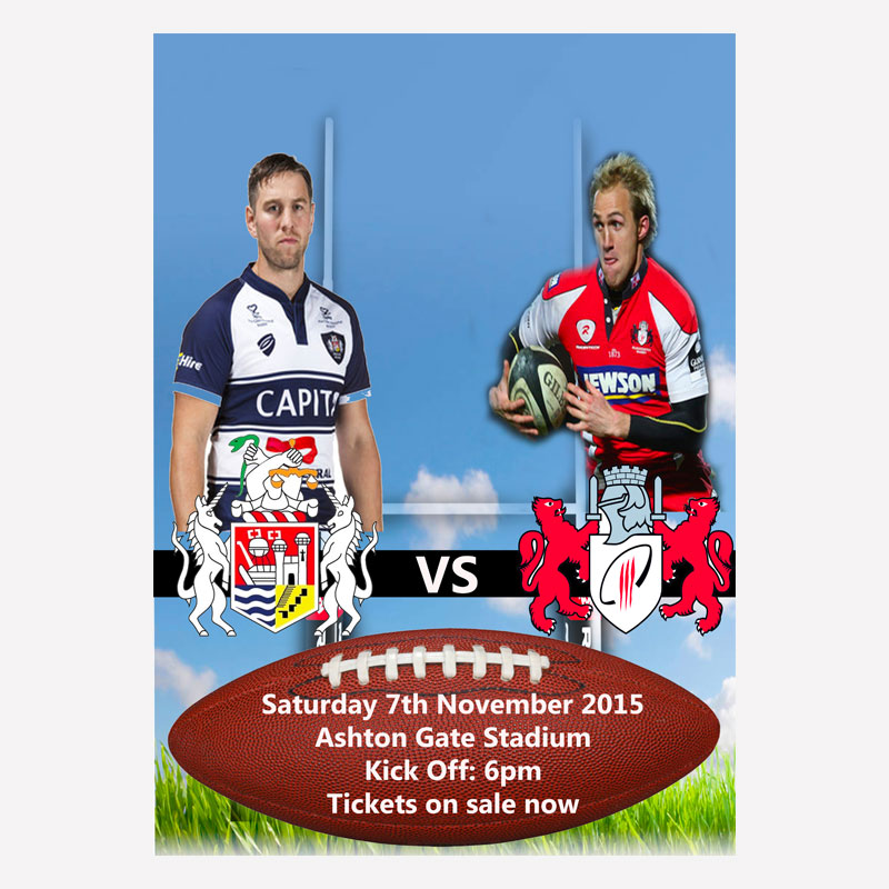 Rugby Match Advertisement Poster