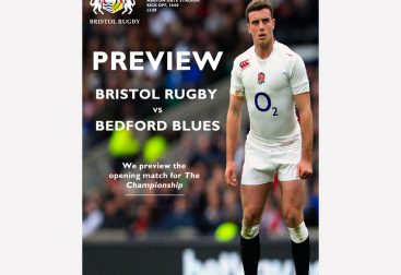 Rugby Match Programme Cover