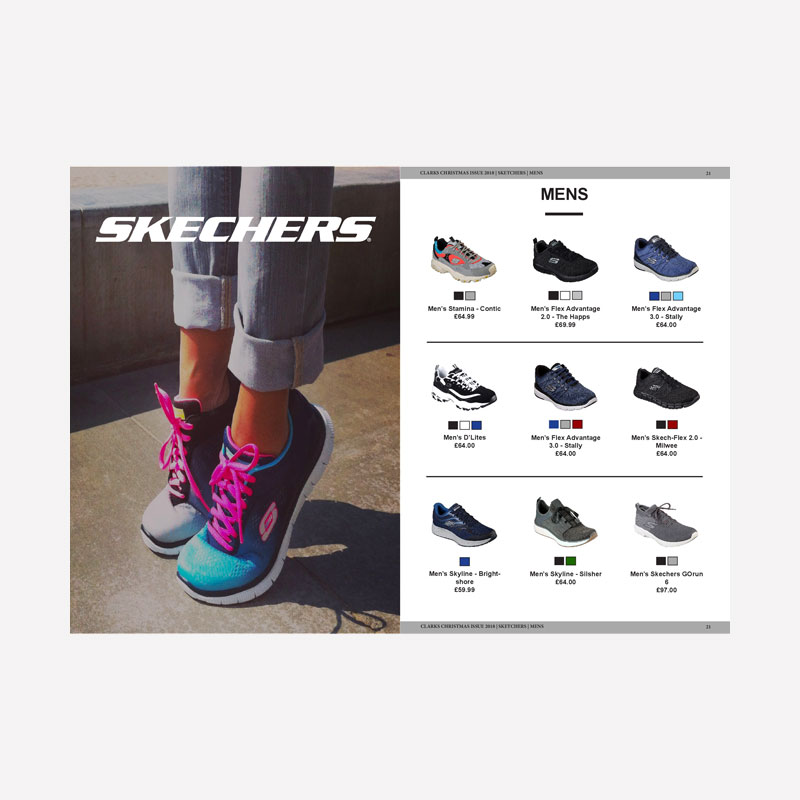 Sketchers Catalogue Design