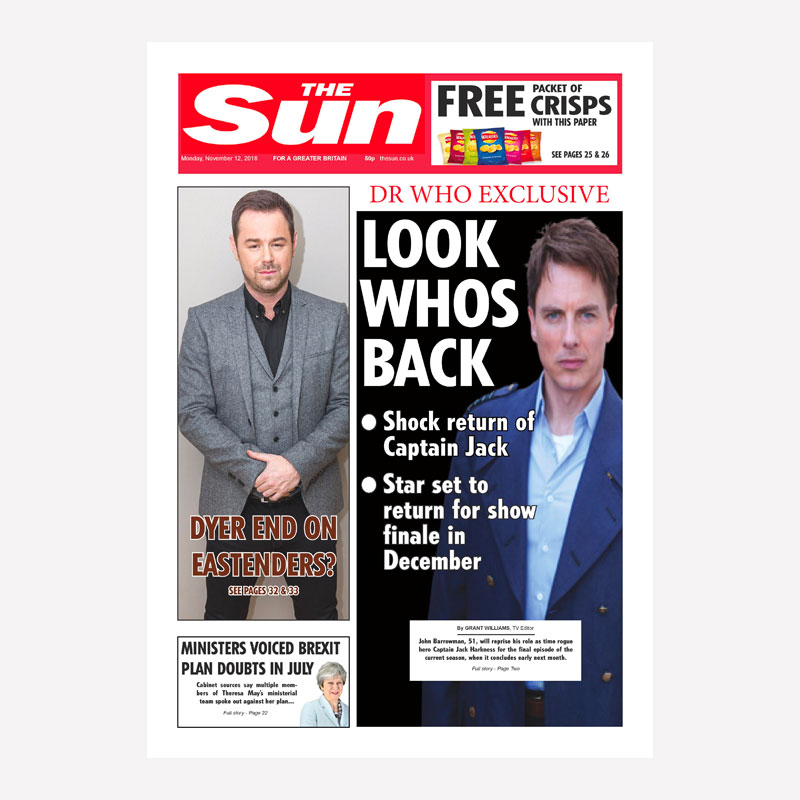 The Sun Newspaper Mock-Up